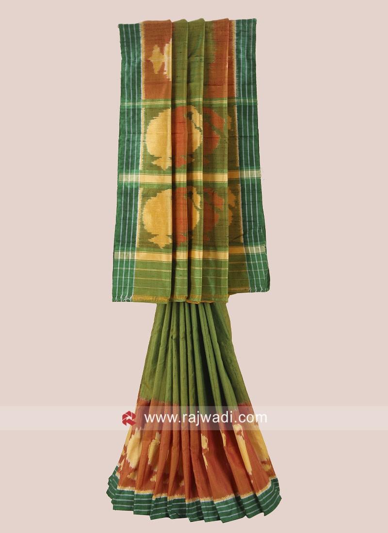 Multicolor Pure Silk Patola Saree