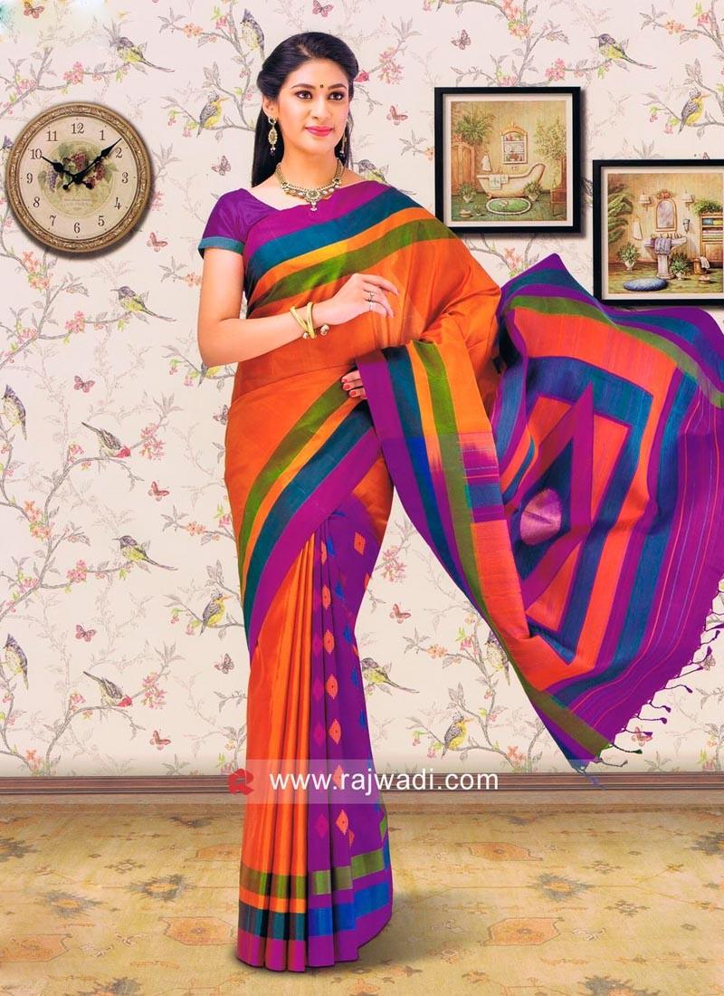 Multicolor Resham Work saree