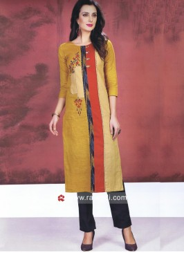 Multicolor Straight Fit Kurti