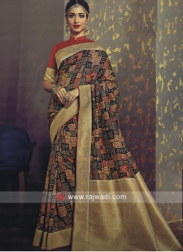 Multicolor Tamannaah Bhatia Saree