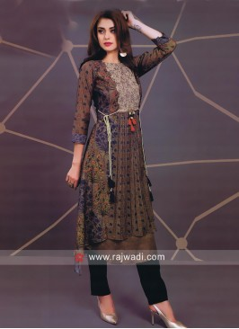 Multicolor Traditional Short Long Kurti