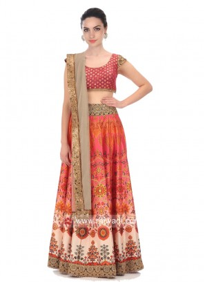 Multicolor Wedding Lehenga Set