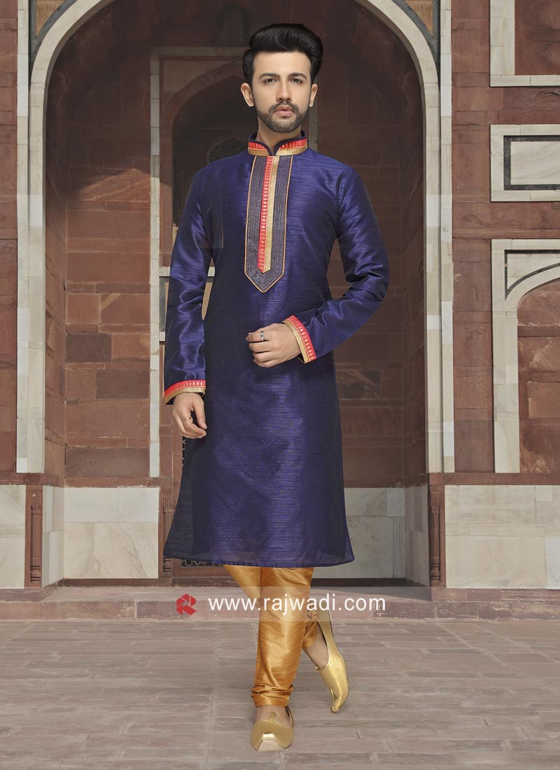 Attractive Blue Kurta Pajama