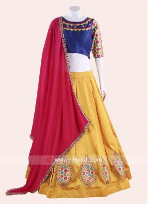 Multicoloured Traditional Navratri Chaniya Choli