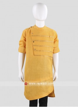 Mustard Yellow Color Kurta For Party