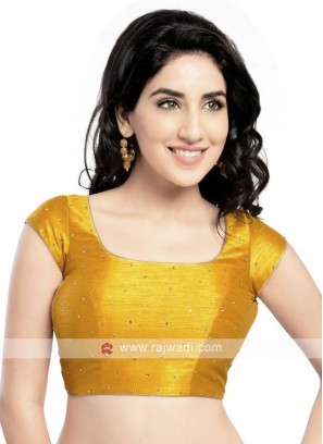Mustard Yellow Color Ready Blouse