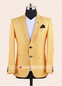 Mustard Yellow Color Wedding Blazer