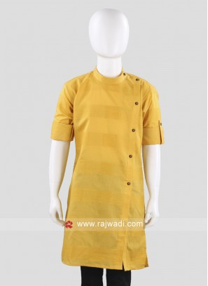Mustard Yellow Cotton Kurta