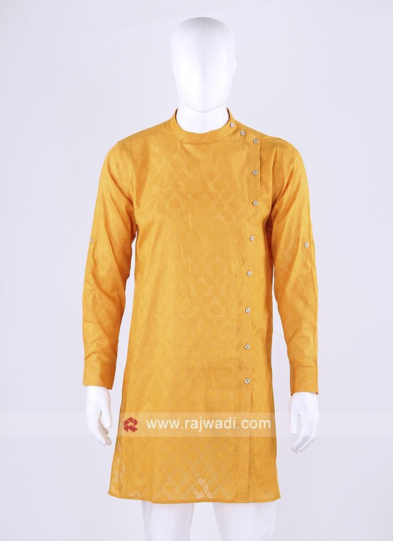 mustard yellow cotton kurta