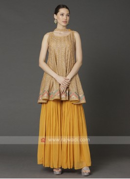 Mustard Yellow Gharara Suit