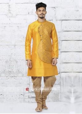 Mustard Yellow Indo Western