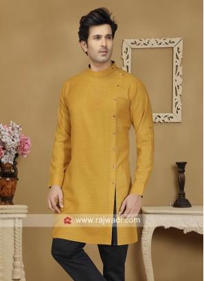 Mustard Yellow Kurta For Wedding