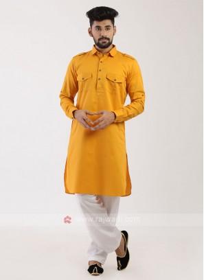 Mustard Yellow Pathani Suit