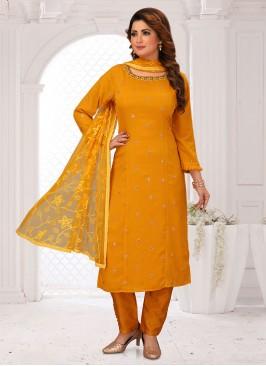 Mustard Yellow Salwar Suit For Wedding