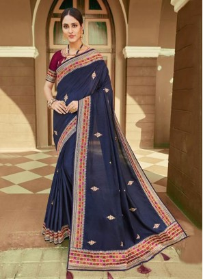 Mystical Embroidered Party Classic Saree