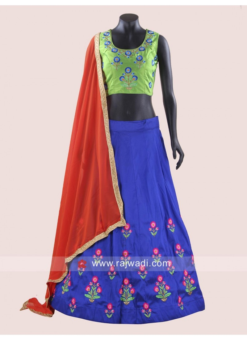Navratri Chaniya Choli In Raw Silk Fabric