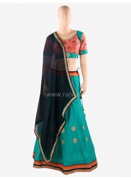 Navratri Chaniya Choli with Black Dupatta