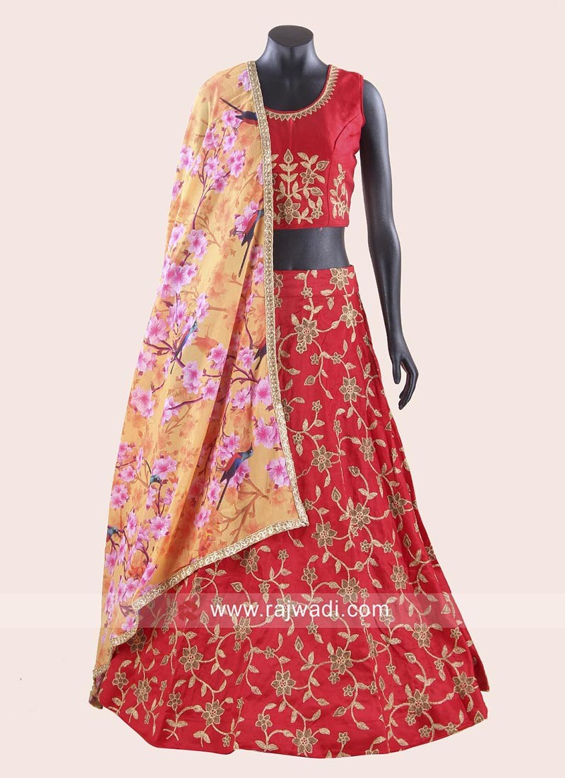 Navratri Chaniya Choli with Flower Work