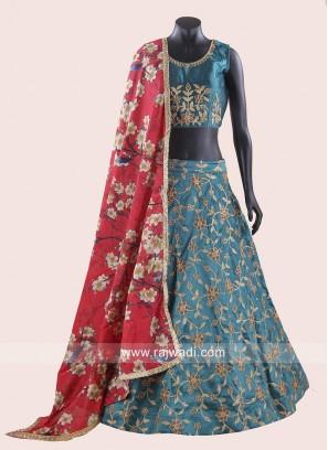 Navratri Chaniya Choli with Flower Work