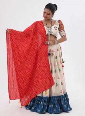 Navratri Chaniya Choli With Patola Print