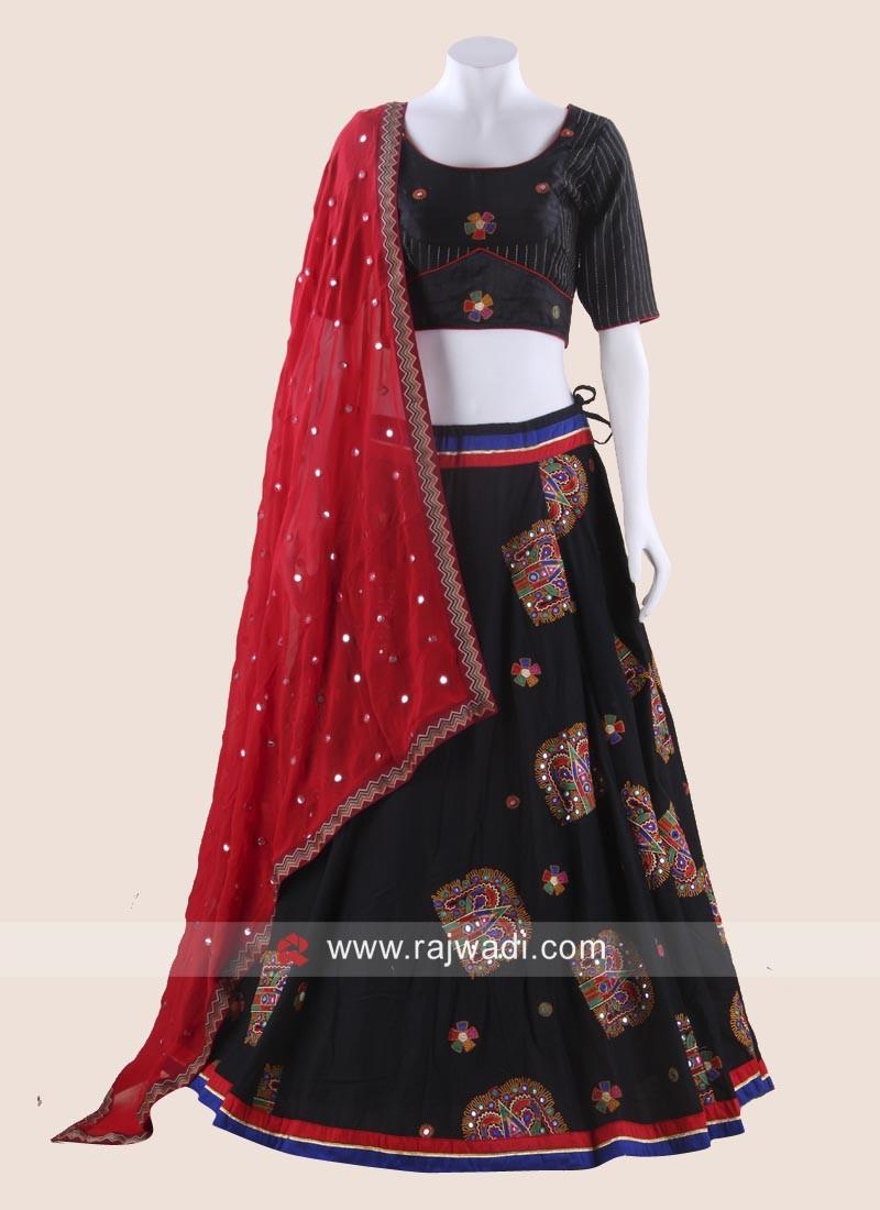 Navratri Cotton Silk Chaniya Choli