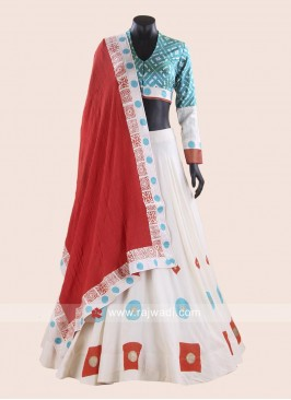 Designer Cotton Choli Suit