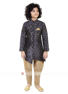 Navy Blue Color Indo Western For Boys