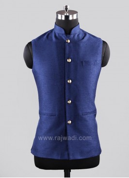 Navy Blue Color Koti For Party