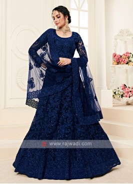 navy blue color lehenga choli
