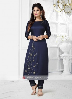 Navy Blue Colour Kurta Set