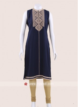 Navy Blue Crepe Tunic