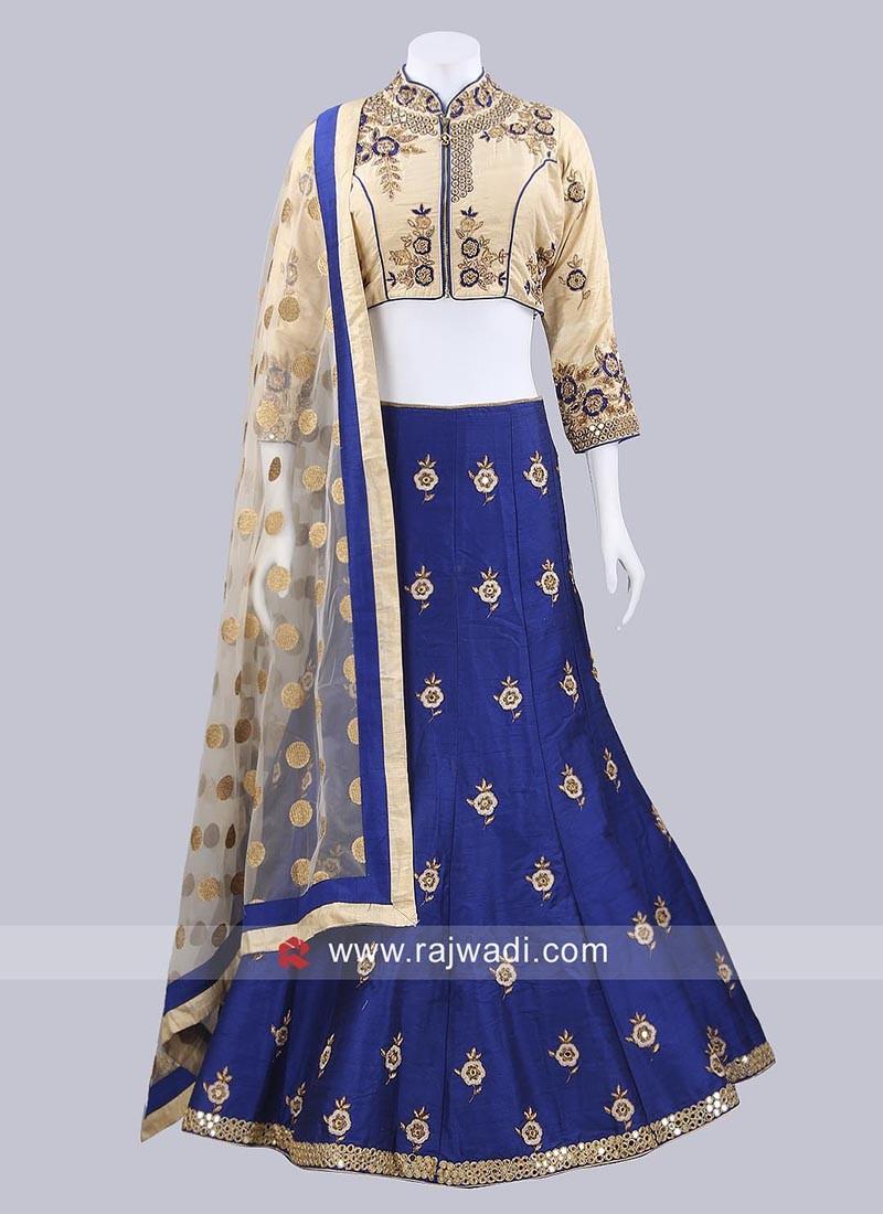 Navy Blue Designer Lehenga Choli