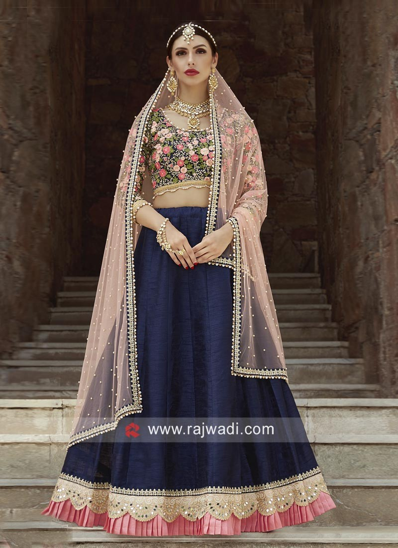 Navy Blue Designer Lehenga Set with Dupatta