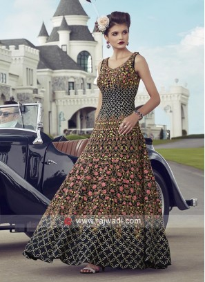 Navy Blue Heavy Anarkali Suit