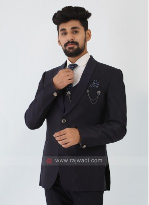 Navy Blue Imported Suit