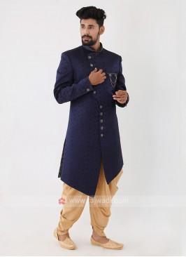 Navy Blue Mens Indo-Western