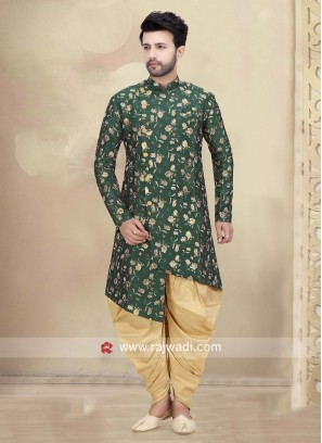 Green Mens Patiala Suit