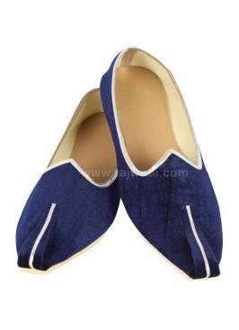 Navy Blue Mojari For Men