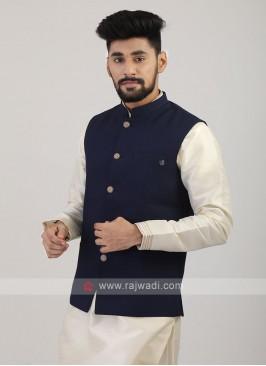 Navy Blue Nehru Jacket