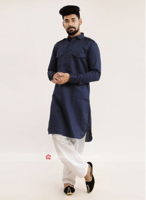 Navy Blue Pathani Suit