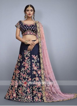 Navy Blue Wedding Lehenga Set