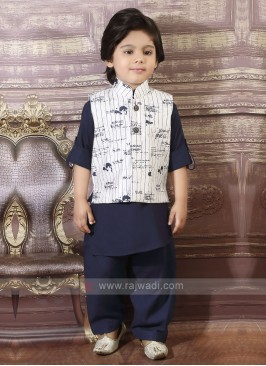 Navy Boys Pathani Suit
