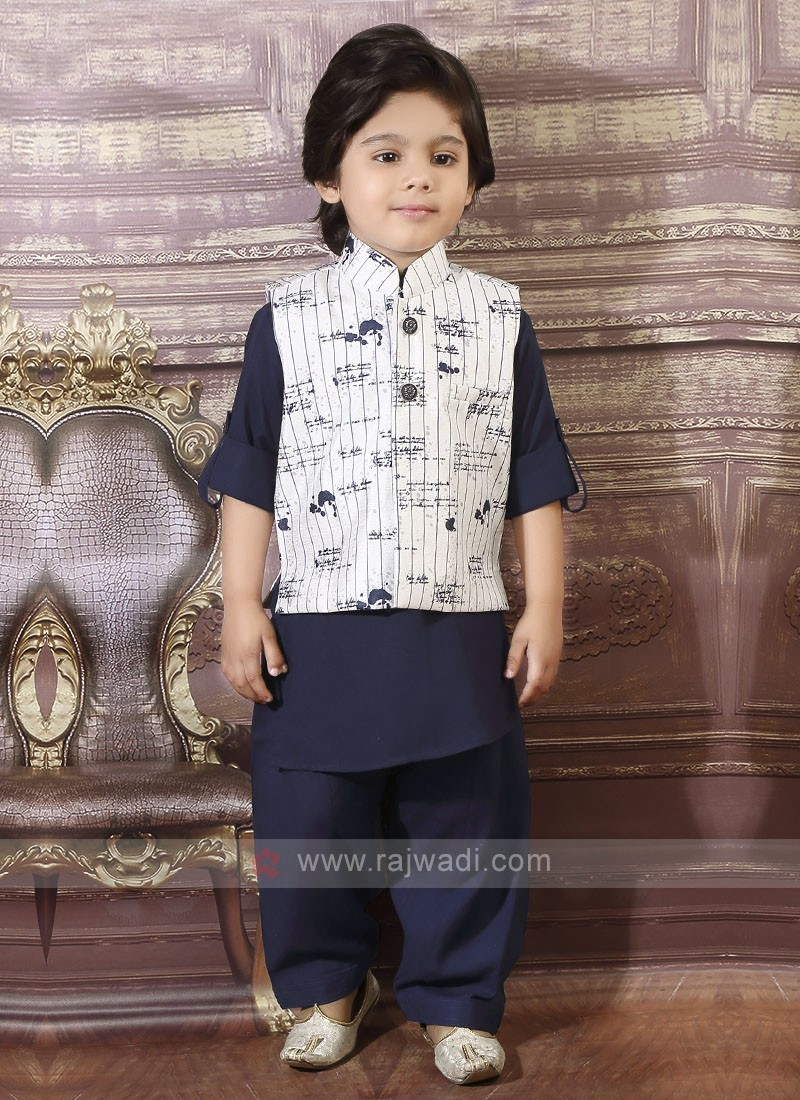 Navy Boys Pathani Suit