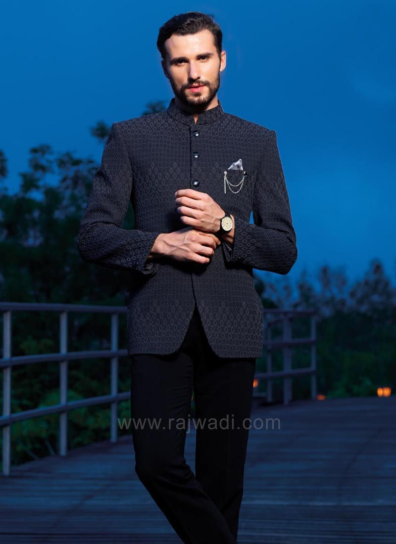 Navy Color Jodhpuri Suit