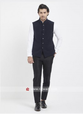 Navy Color Koti For Party