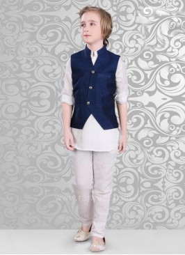 Navy Color Koti With Kurta Set