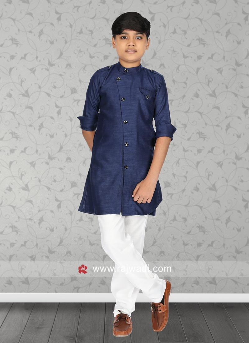 Blue Color Kurta Pajama