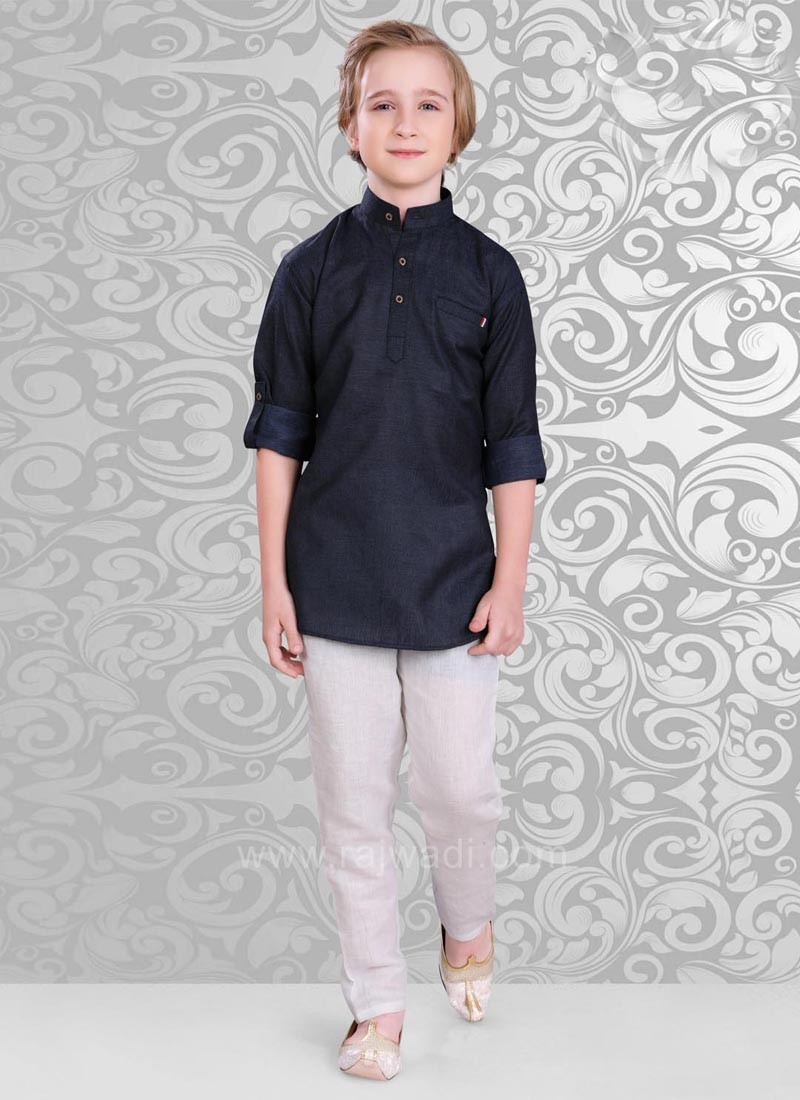 Navy Color Kurta and Bottom