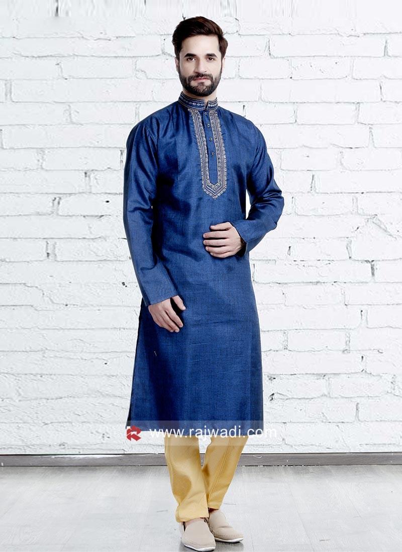 Blue Color Kurta Pajama