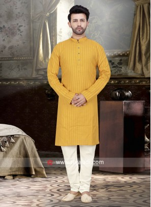 Charming Mustard Yellow Color Kurta Pajama